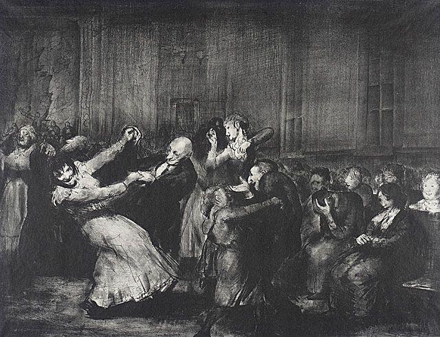 Dance in a Madhouse by George Bellows