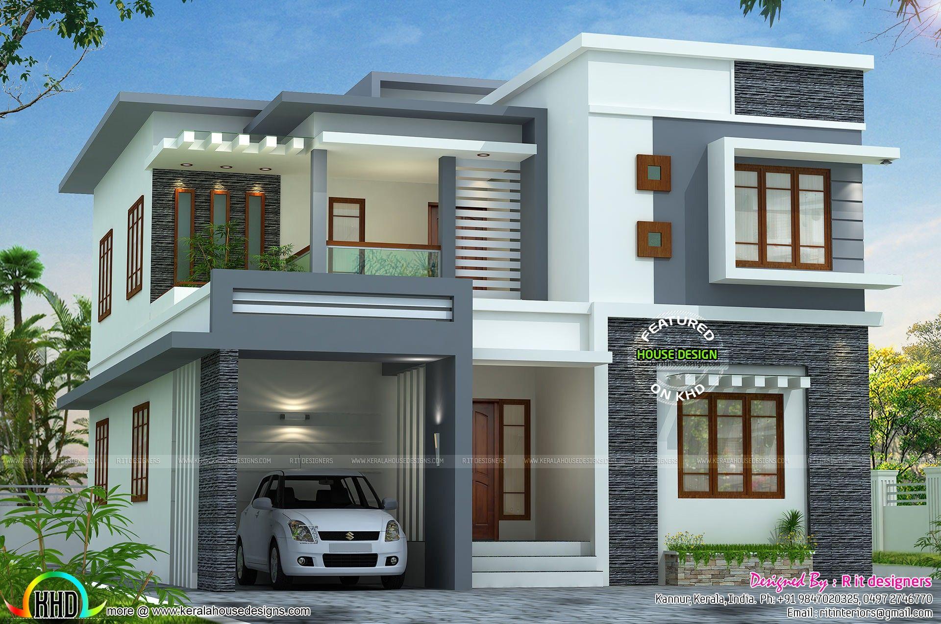 Double Storey House Exterior Design Beautiful Modern