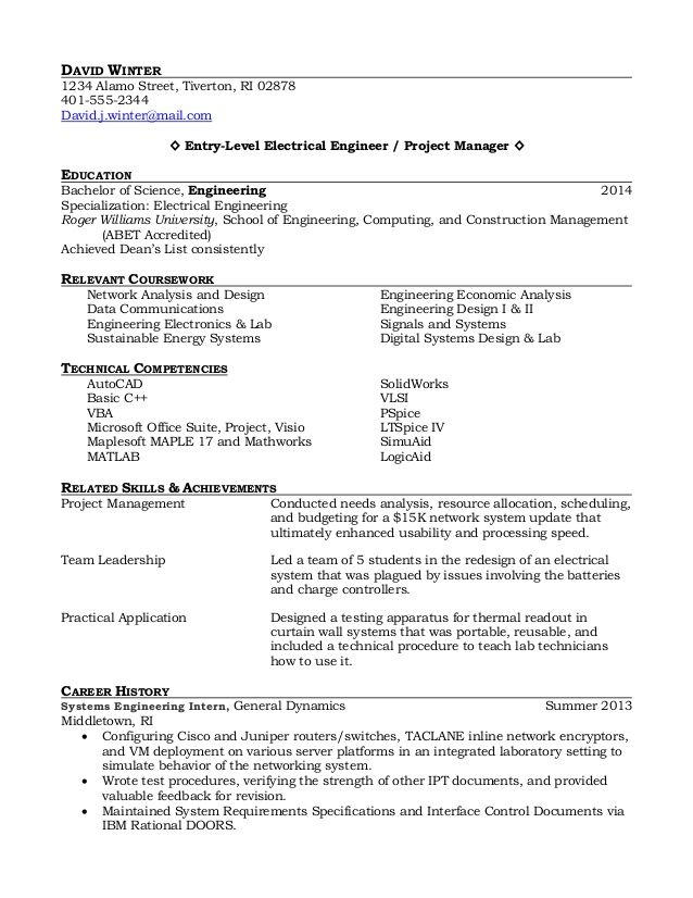 Design technology coursework level The Cambridge IGCSE Design and - entry level electrical engineer resume
