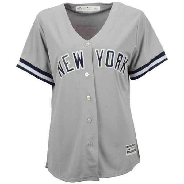Majestic Women S New York Yankees Jersey 200 Brl Liked On Polyvore Featuring Grey Ny Yankees Jersey Yankees Jersey New York Yankees Jersey And Majestic J