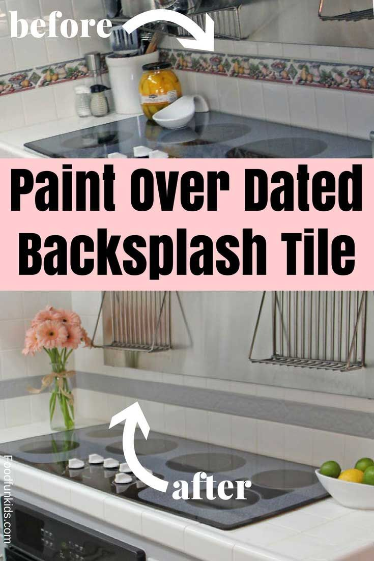 Paint Over Dated Backsplash Tile Painting Over Tiles