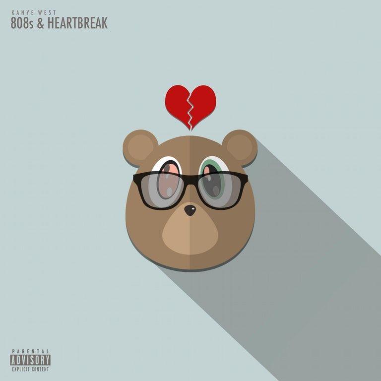 Kanye West 808s Heartbreak 1500x1500 Freshalbumart 808s Heartbreak Heartbreak Art Kanye West
