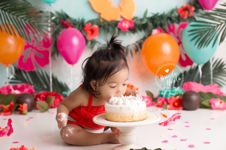 Hawaiian Cake Smash Moana Cake Smash Summer Cake Smash
