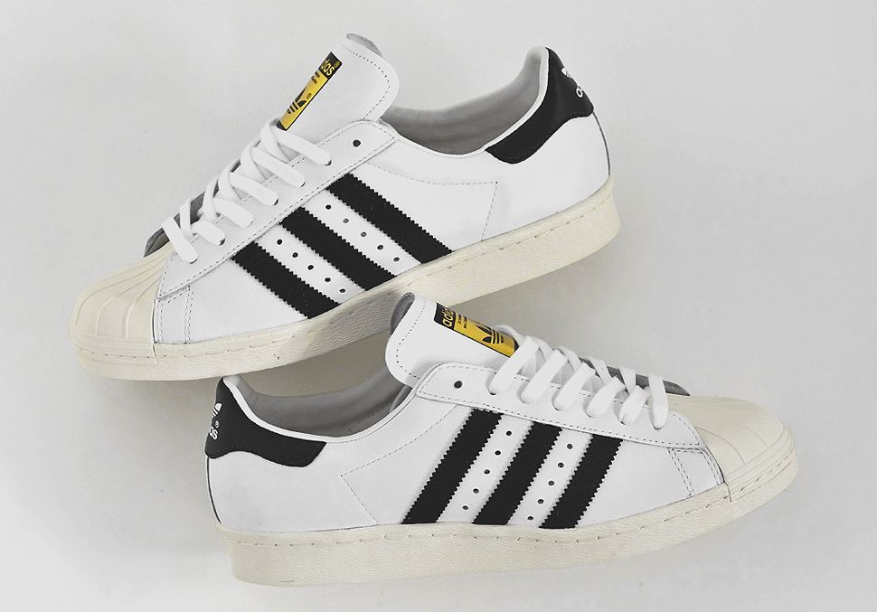 adidas superstar 80s white black chalk