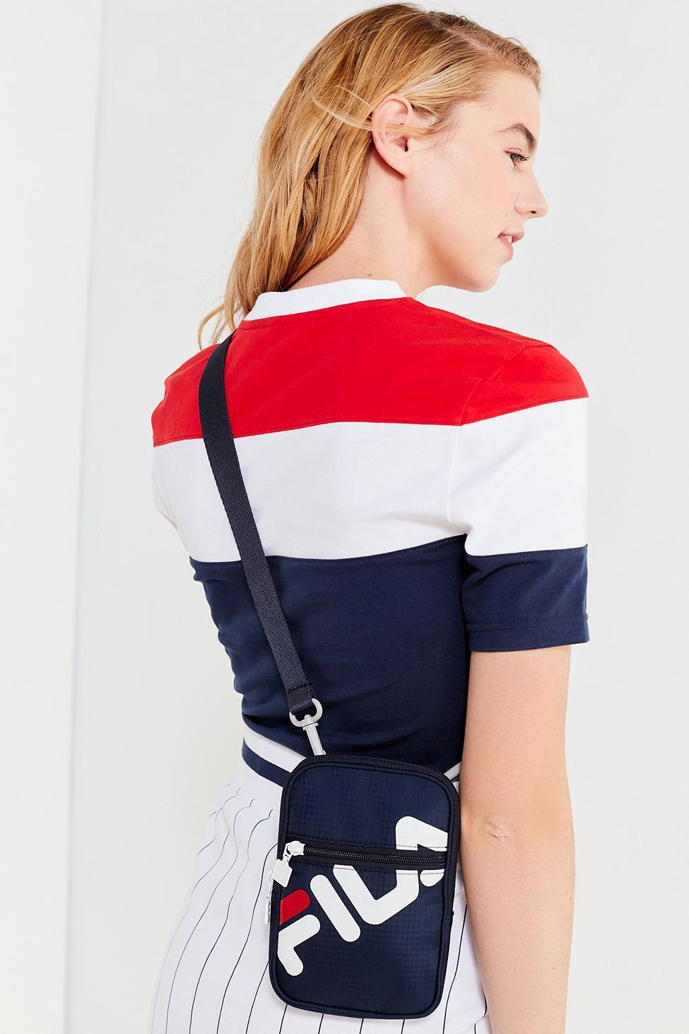 Urban Outfitters Fila Camera Crossbody Bag - Navy One Size ... d659e54e25