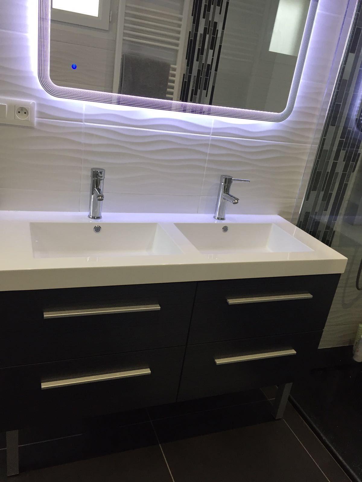 Salle de bain luxdecobat salle de bain luxdecobat - Reglette infrarouge salle de bain ...