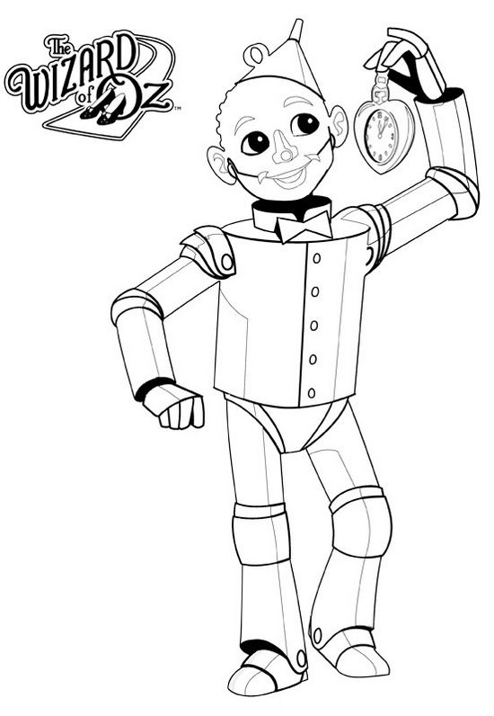 Tin Man from wizard of OZ Coloring Page | Crafts inside | Pinterest