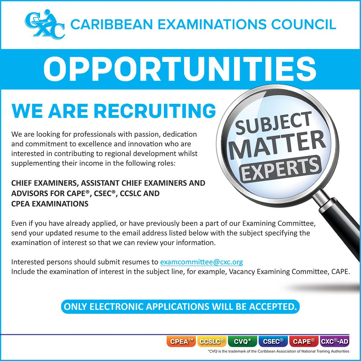 Examples of Advertisement Job Vacancy