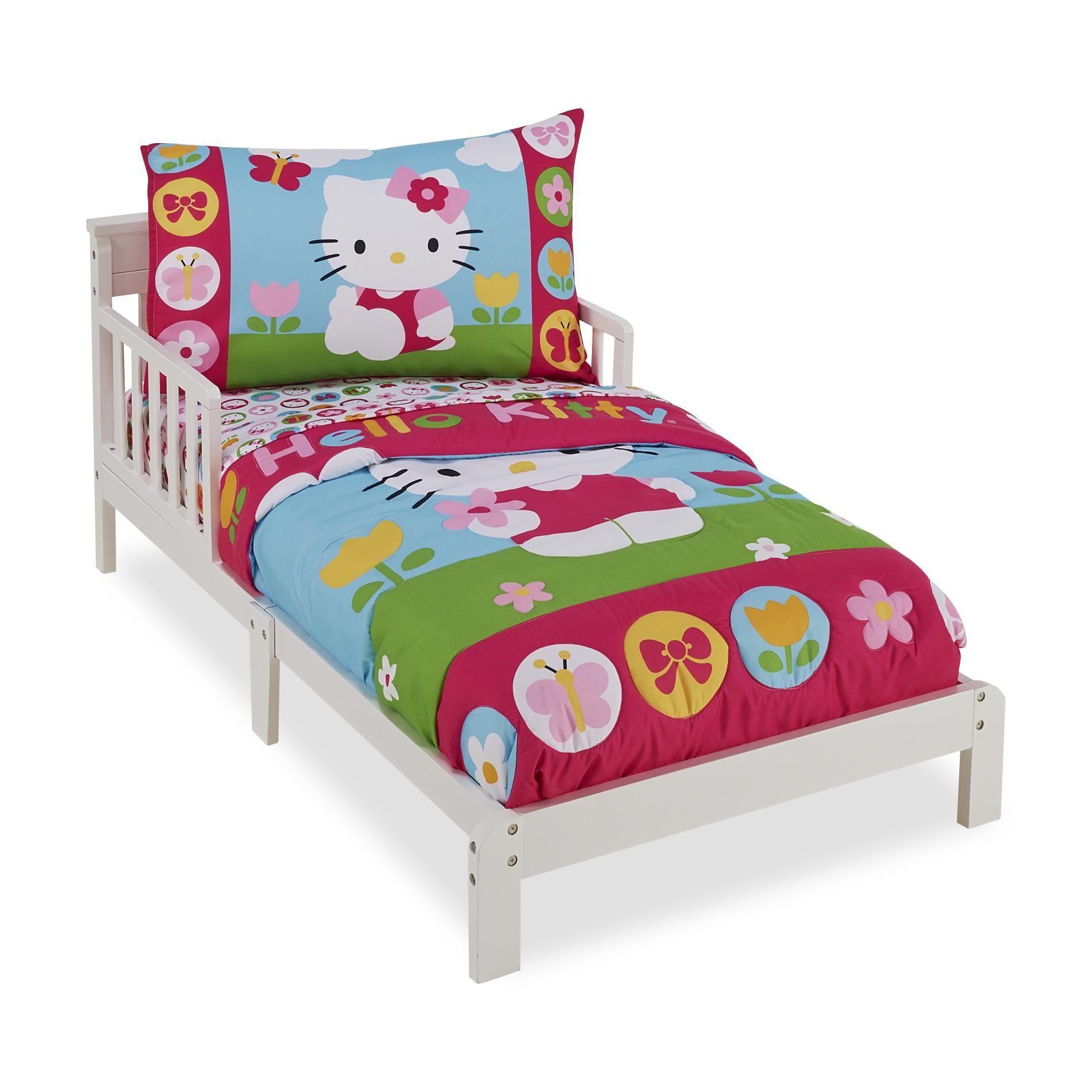Hello kitty toddler bed frame - Good Hello Kitty Toddler Bedding Design Idea