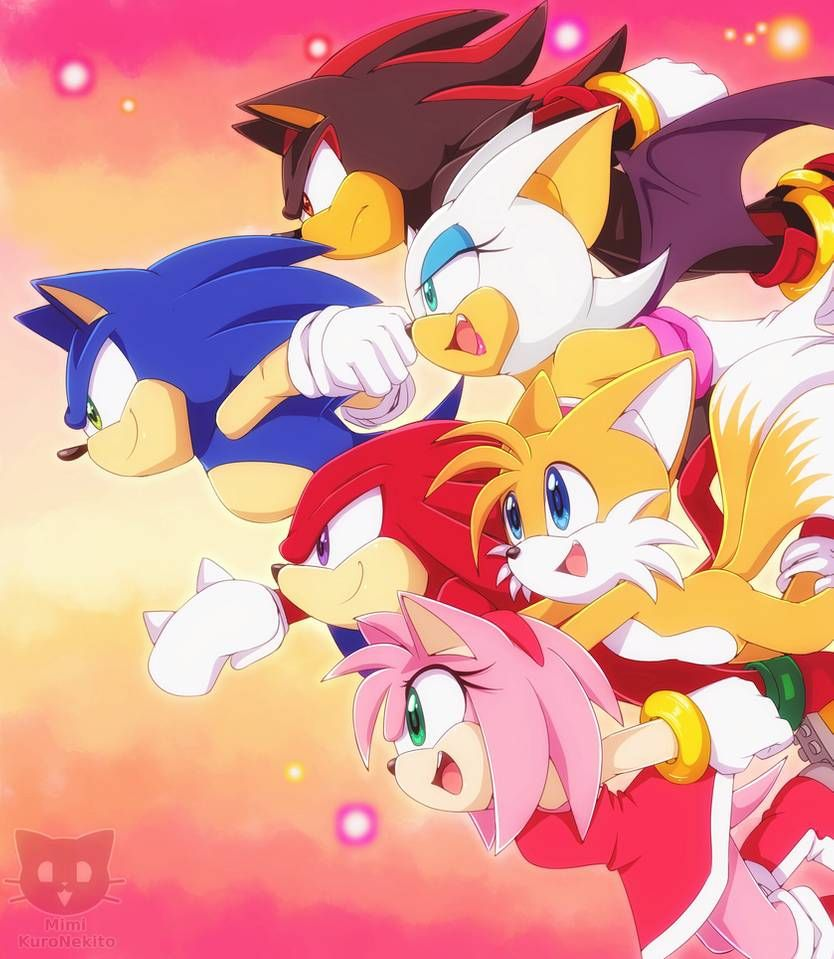 Redraw In Sonic X By Mimikuronekito On Deviantart In 2020 Sonic Art Sonic Anime Shows