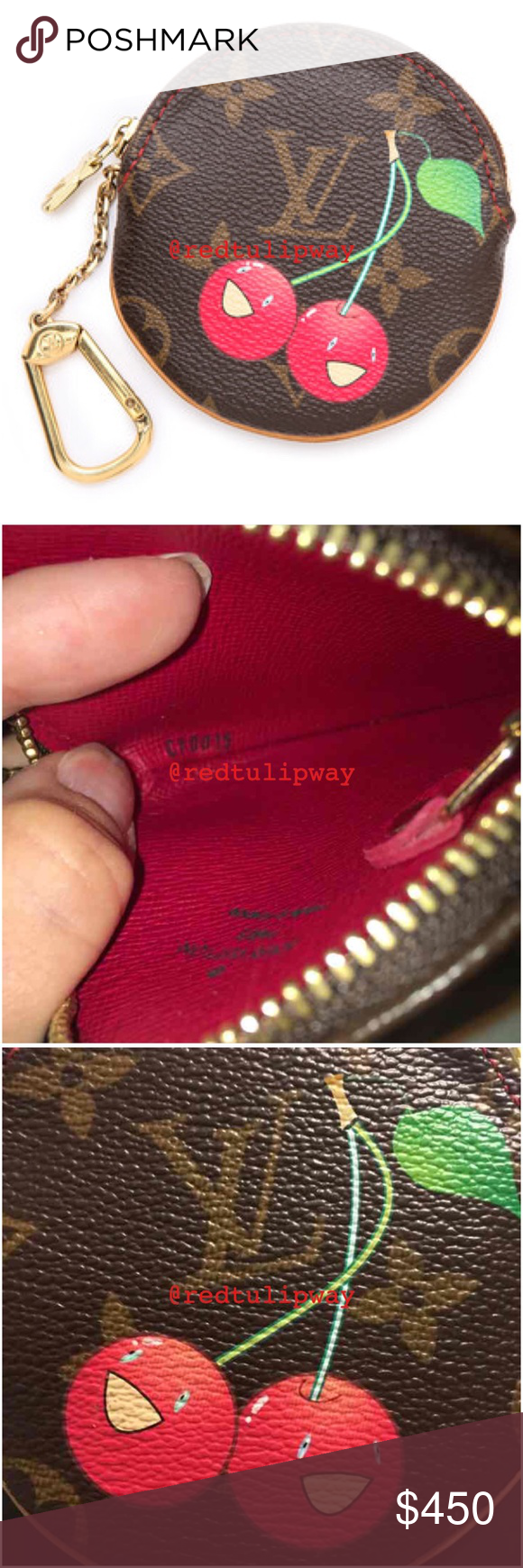 837e1aaca8f Louis Vuitton Cerises Round Coin Purse Guaranteed authentic limited ...