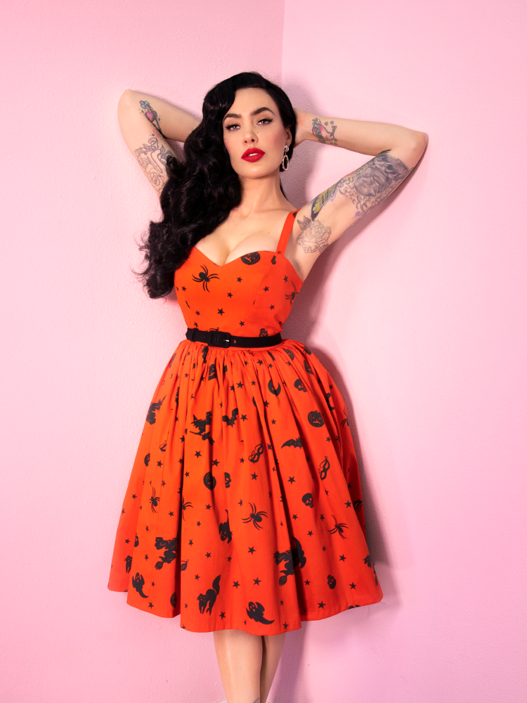 1f9b07d26 Ben Cooper Vintage Halloween print Sweetheart Dress - Vixen by Micheli –  Vixen by Micheline Pitt