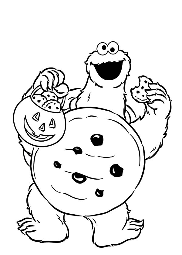Trick Or Treat Cookie Monster Coloring Pages Coloring Sky Monster Coloring Pages Halloween Coloring Pages Printable Sesame Street Coloring Pages