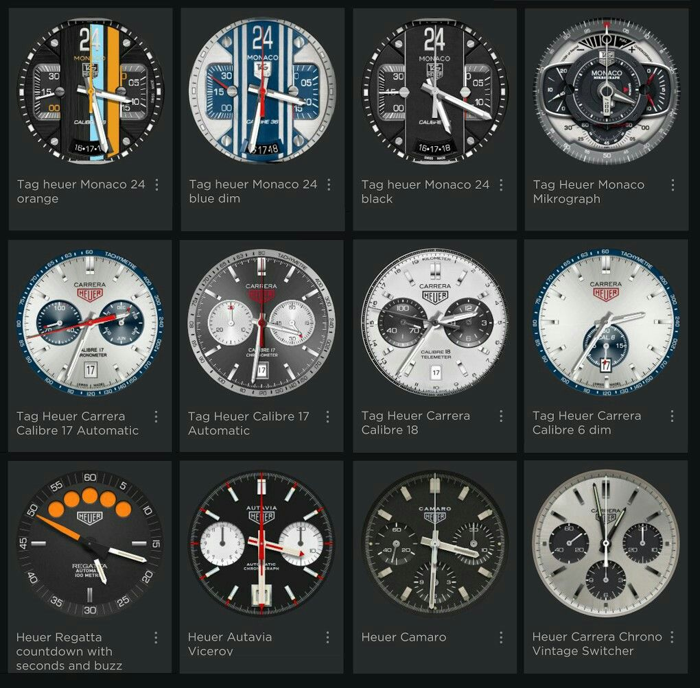 TAG Heuer Connected: Custom Watchfaces | Watches en 2019 ...