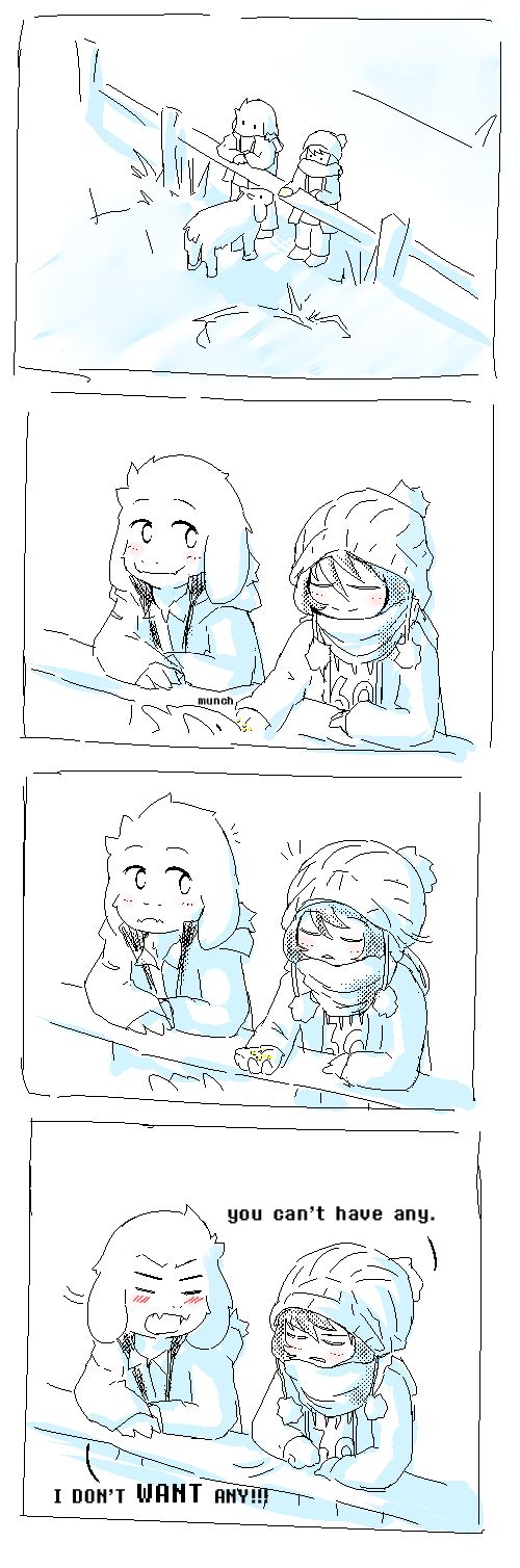 Asriel and Frisk - comic: