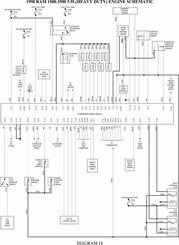 2001 dodge ram 1500 ignition wiring diagram  wiring diagram
