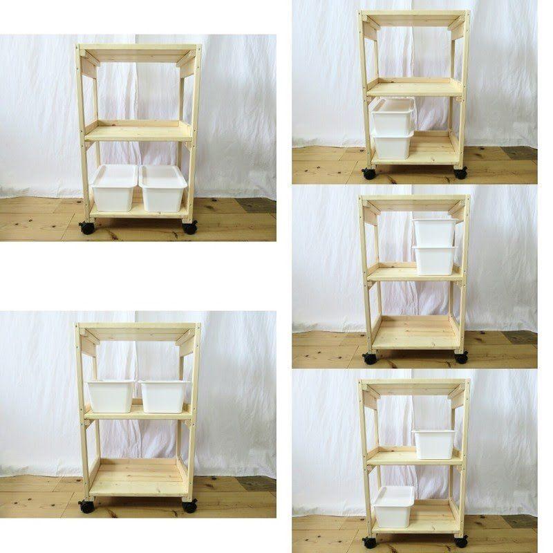 ダイソーの人気商品を収納しよう ワゴン式ボックスをdiy Limia