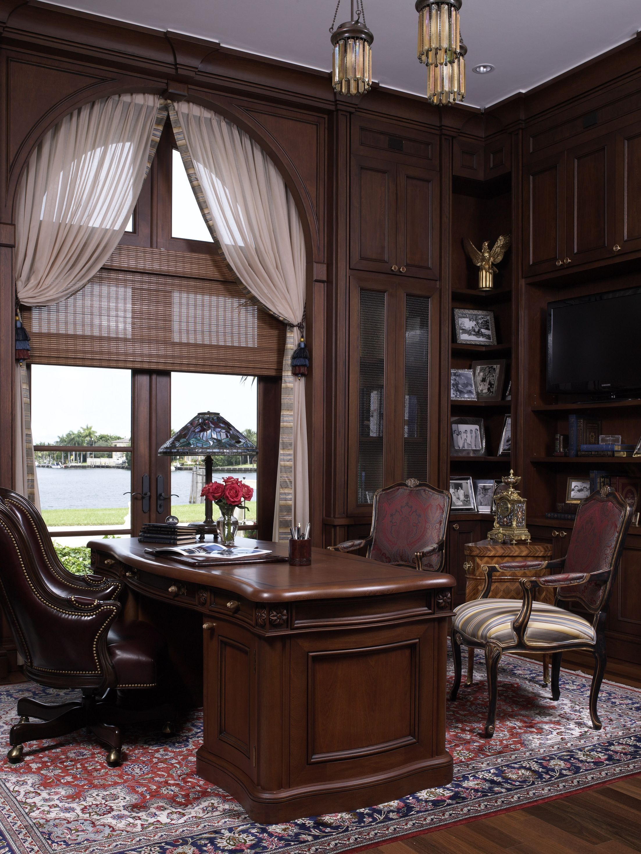 Classic Home Library Design: Diaz Home Office