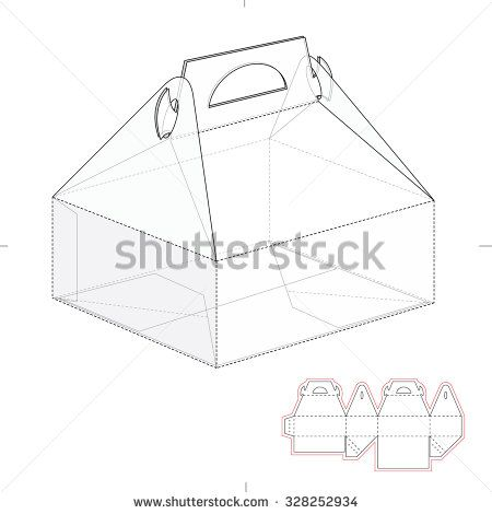 Cake carrier box with die line template how to make doughnuts cake carrier box with die line template pronofoot35fo Gallery