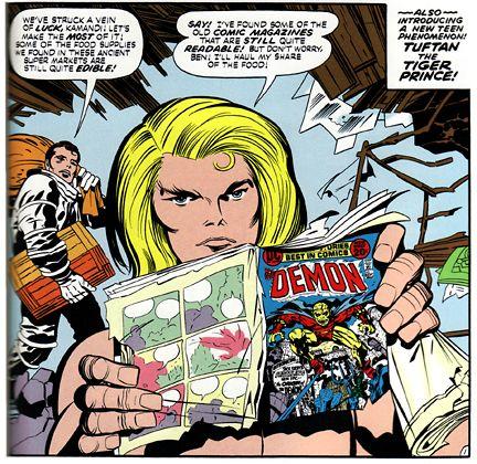 Jack Kirby  Kamandi reading the Demon comic
