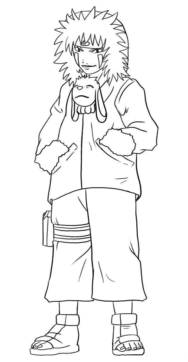 Kiba And Akamaru Naruto Coloring