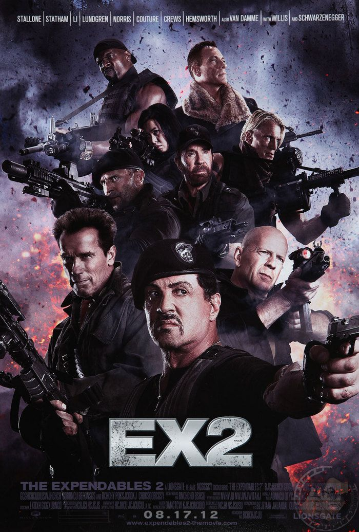 The Expendables 2 Movie Poster The Expendables Thriller Claude Van Damme
