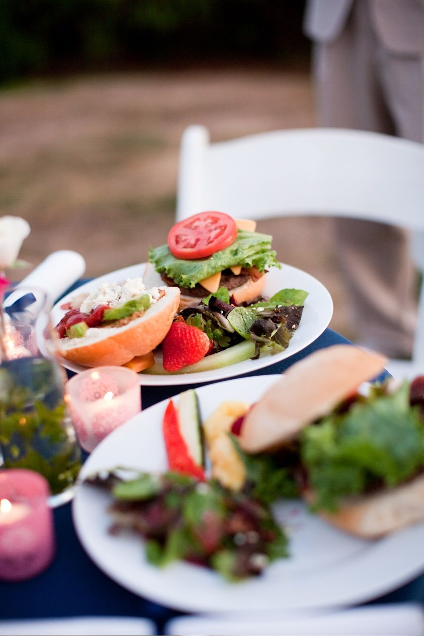gourmet burger bar great for outdoor weddings and events