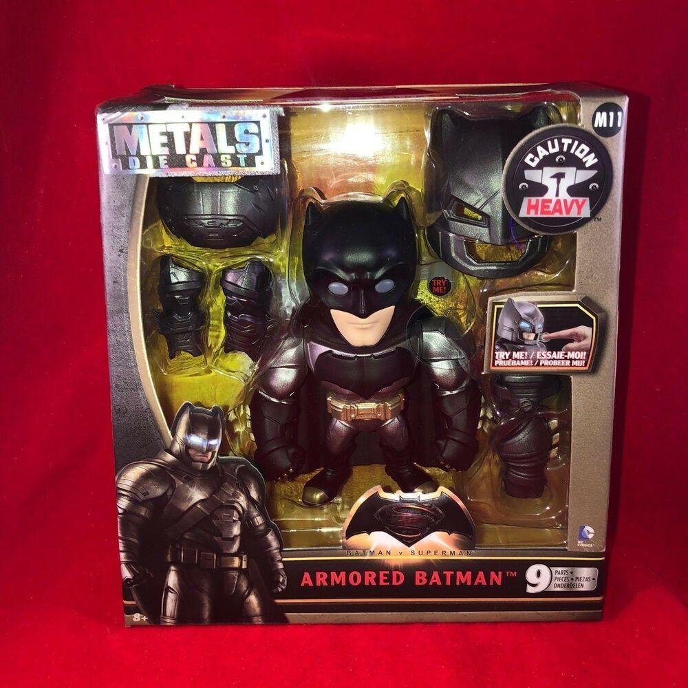 """ARMORED BATMAN 6/"""" FIGURE M11 BATMAN v SUPERMAN NEW METALS DIE CAST"""