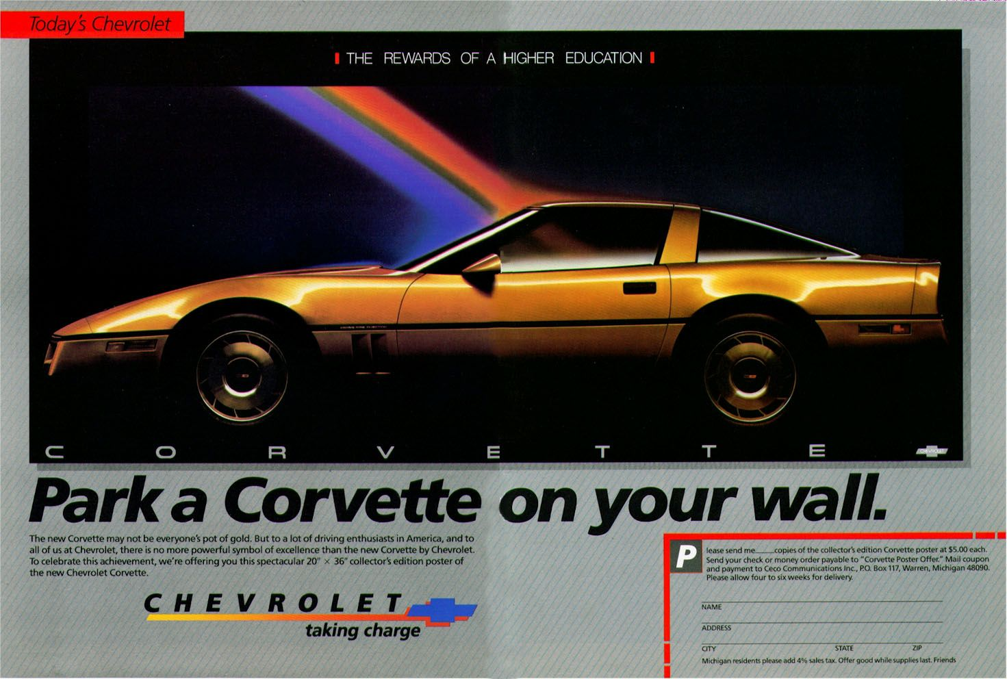 1984 Chevrolet Corvette Ad 06 Jpg 1 471 992 Pixels Preppy Car