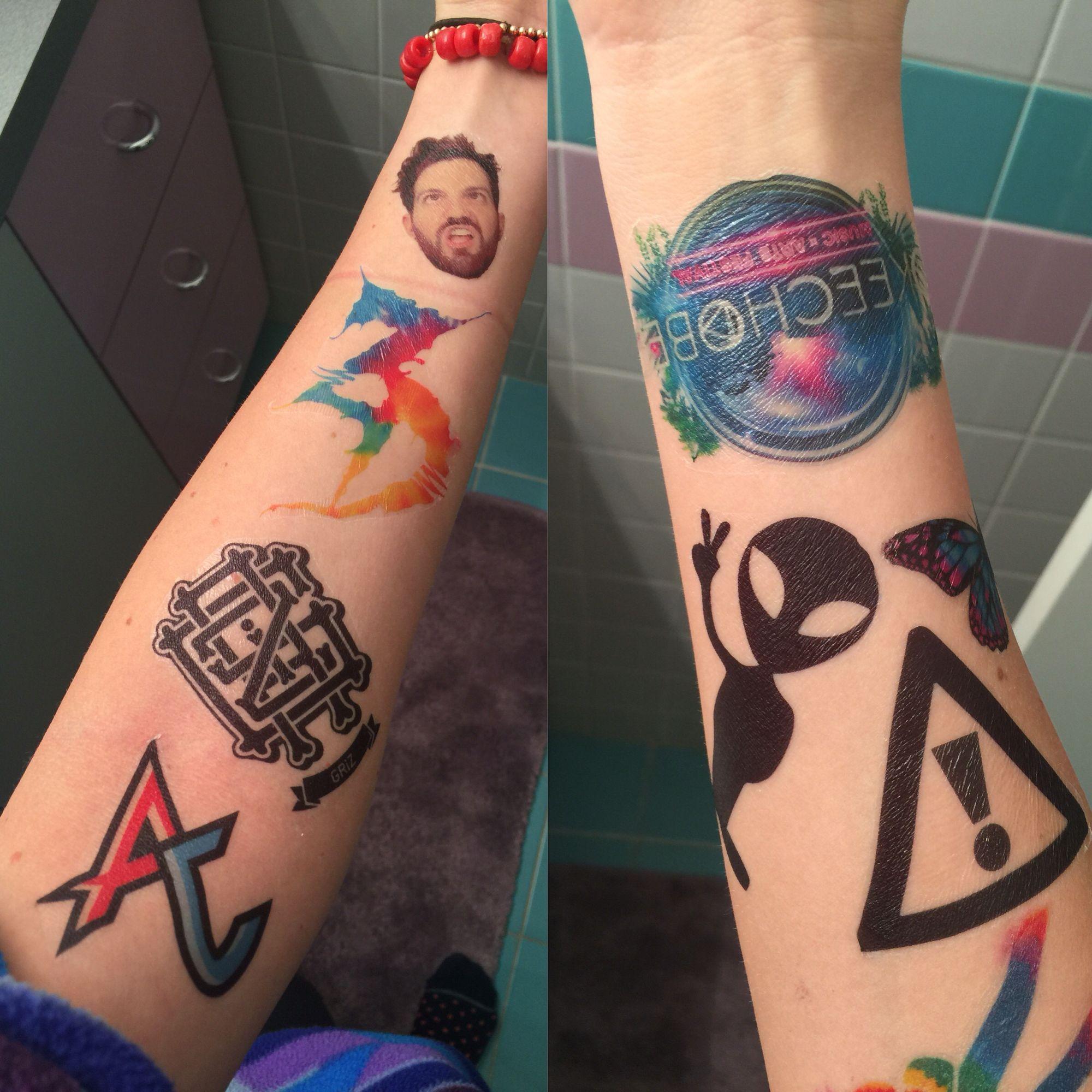 38ea72821 Music Festival Temporary Tattoos from SlapQueen Flosstradamus GRiZ Dillon  Francis Zeds dead Adventure club
