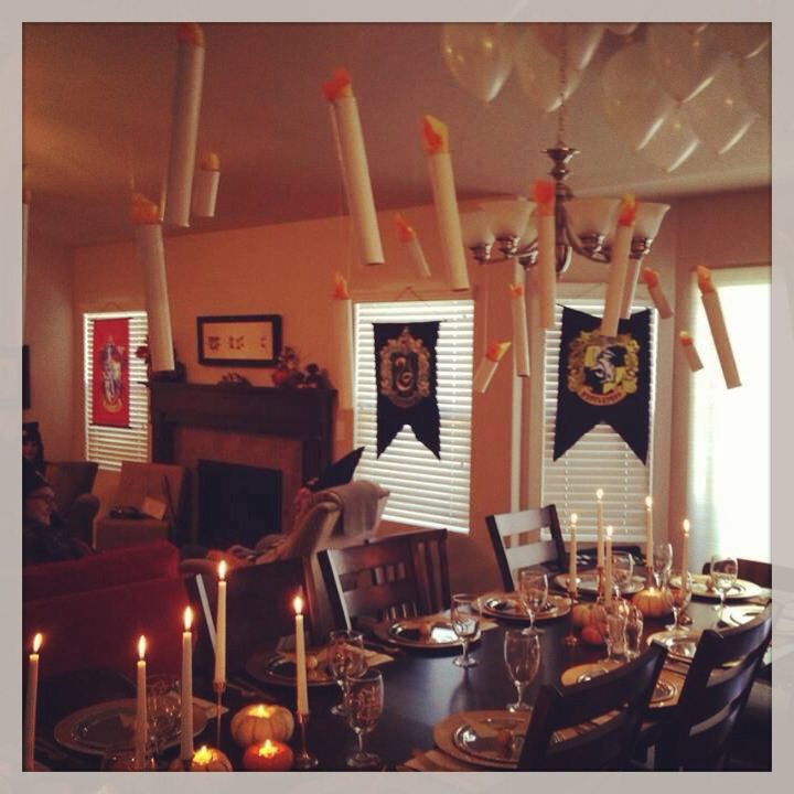 Hogwarts feast Harry Potter birthday party decor harrypotter