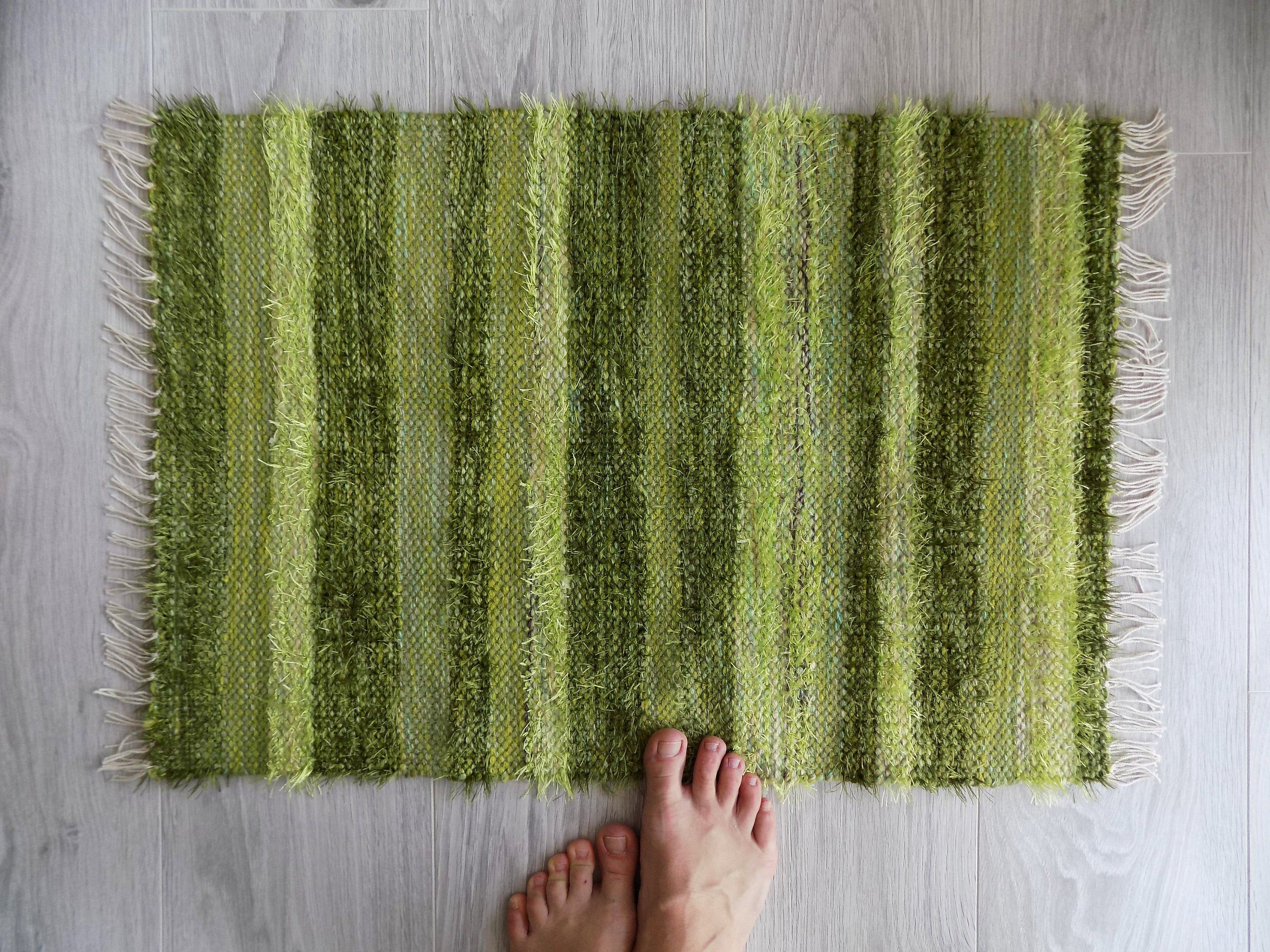 olive green bath mat small woven rug
