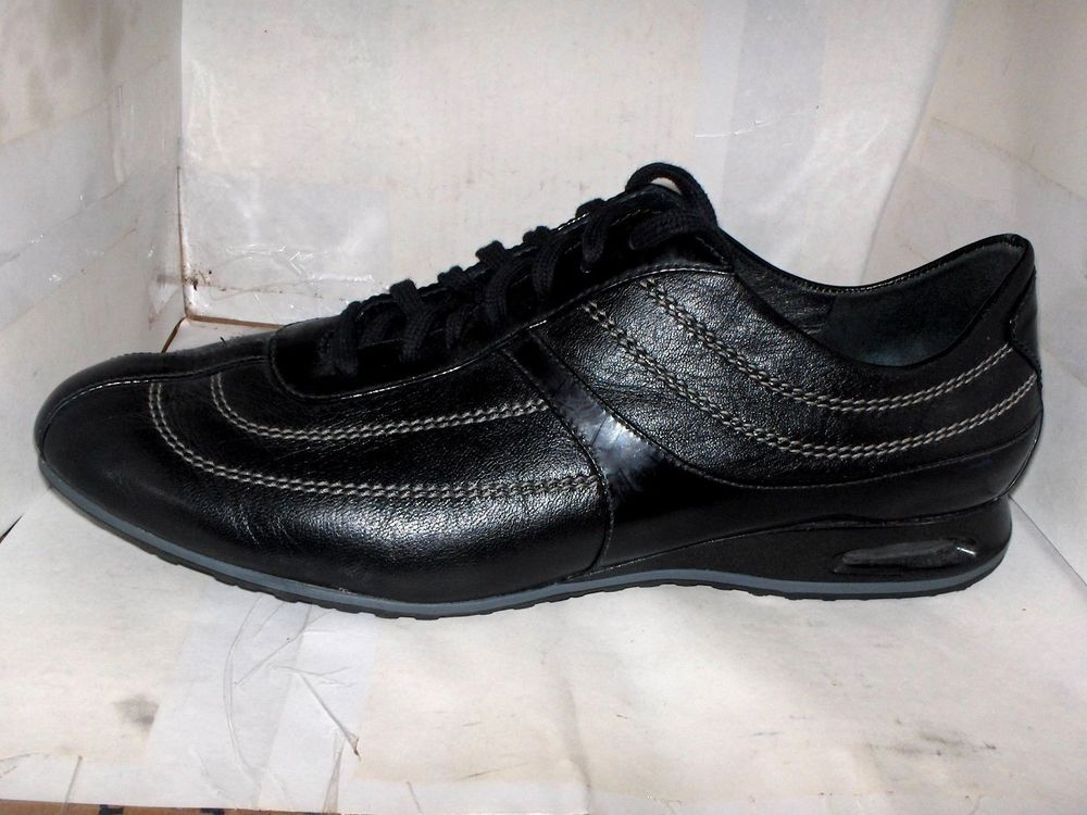 COLE HAAN WOMENS BLACK LEATHER NIKE AIR OXFORD WALKERS SIZE 9.5 B 28841 #ColeHaan #Oxfords #Casual