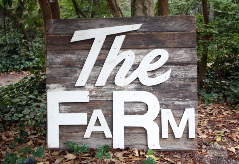 Giant Vintage Wooden Farm Signs Getting Ready For The Flea And A