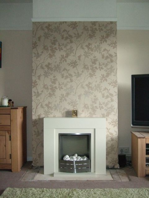 wallpaper ideas for chimney breast - Google Search ...