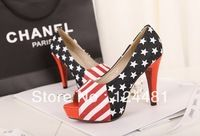 2014 Hot cheap free shipping fashion fish mouth waterproof Taiwan fine with high heels wholesale mixed colors