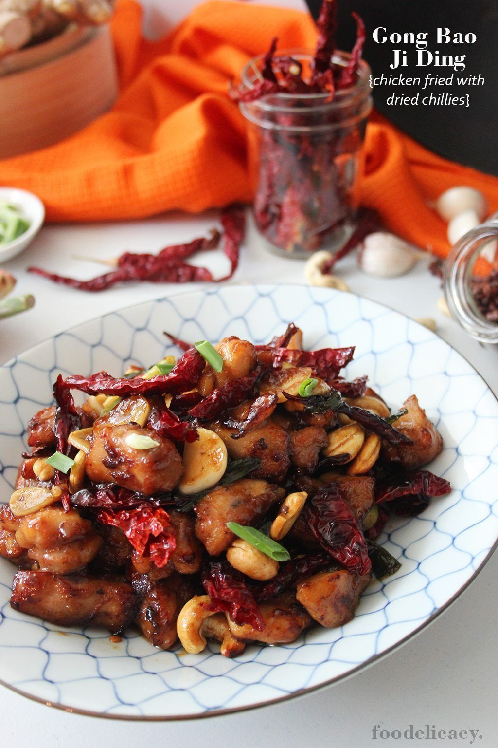 Gong Bao chicken (Chicken Fried with Dried Chillie