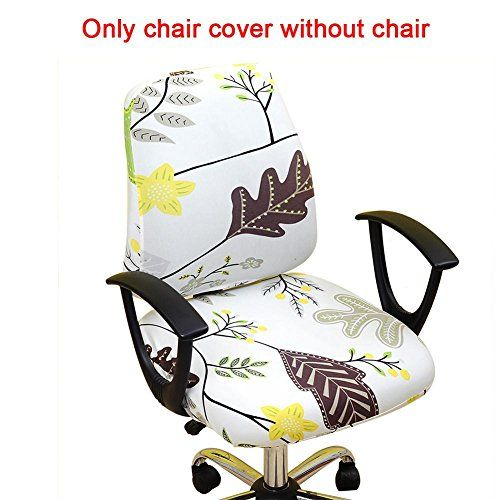 Janny Slipcovers Cloth Chair Pads Removable Office Cover Stretch Cushion Resilient Fabric Flowers Seat Protector