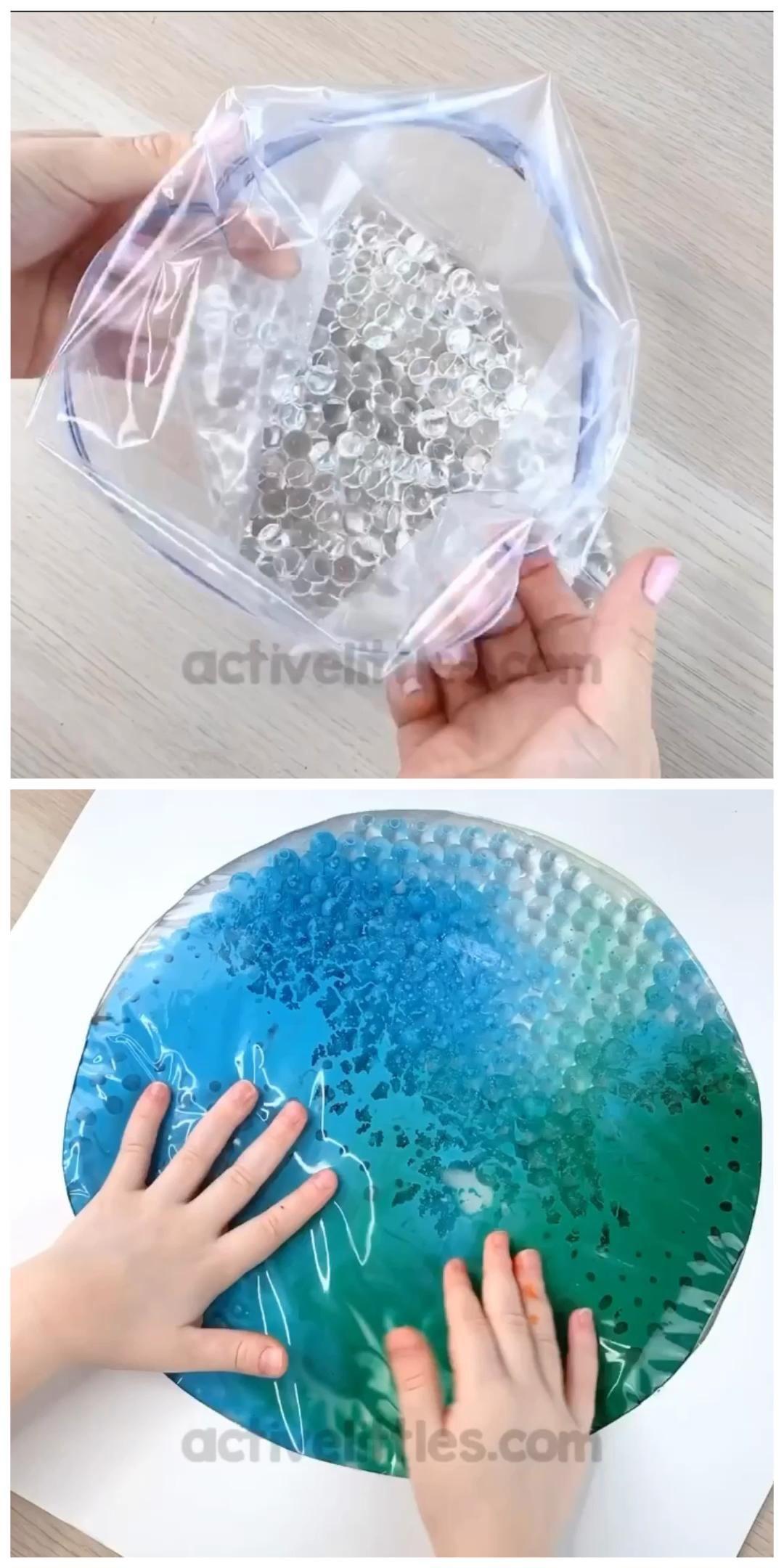 Earth Day Color Mixing Sensory Bag