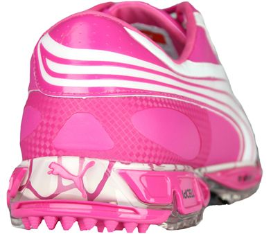 801ca4a78e41f4 Puma Amp Cell Fusion golf shoes as worn by Rickie Fowler. Available in pink  exclusive to Golfposer in the UK   Ireland!