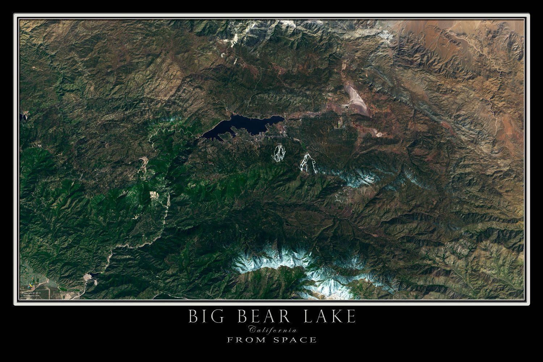San Bernardino Valley California Satellite Poster Map