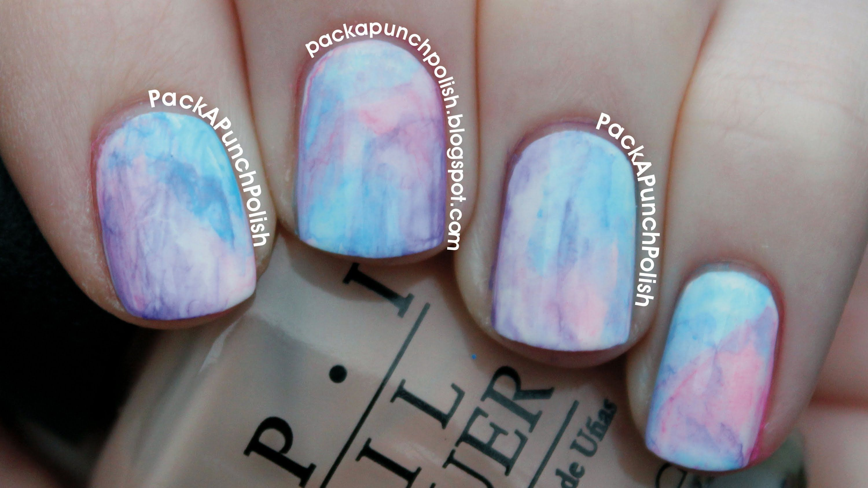 Watercolor Nail Art Tutorial Using Acrylic Paint | Nails | Pinterest ...