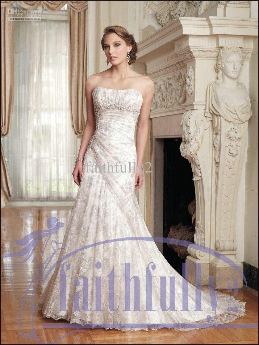 Cream Colored Lace Wedding Dresses   Wedding Ideas   Pinterest ...