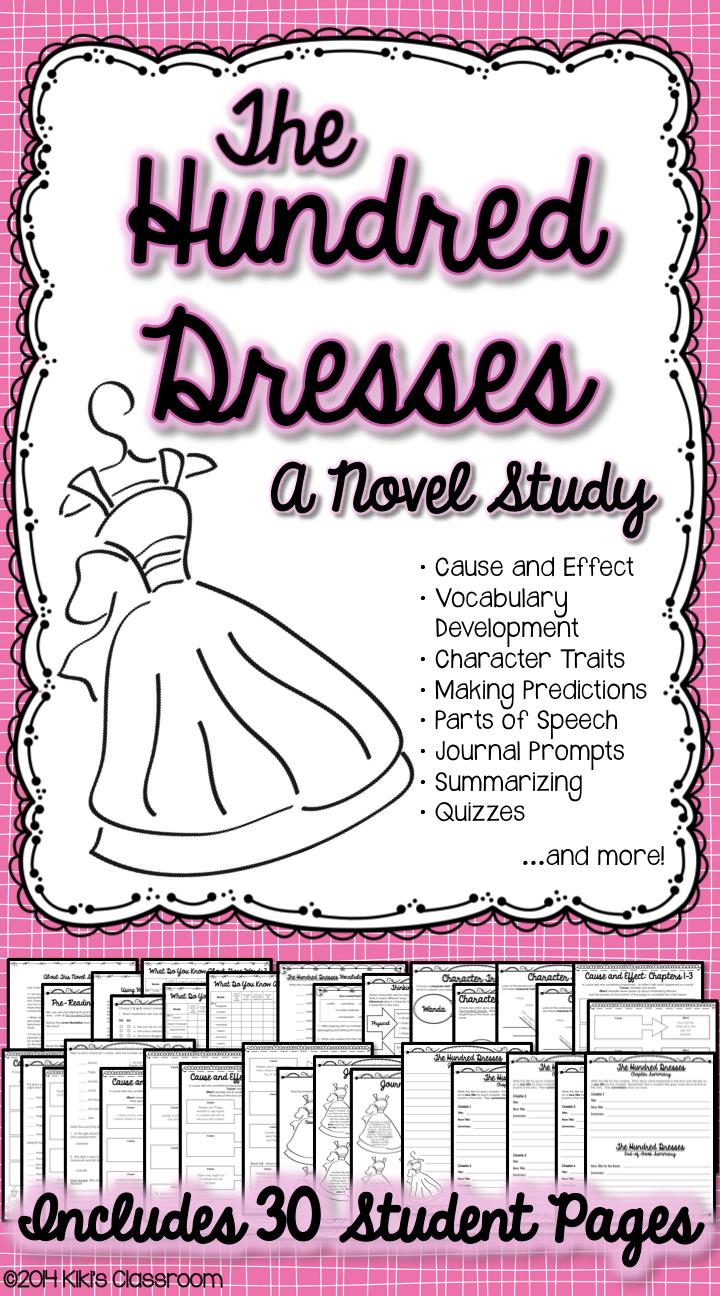 worksheet The Hundred Dresses Worksheets hundred dresses novel study activities by eleanor estes
