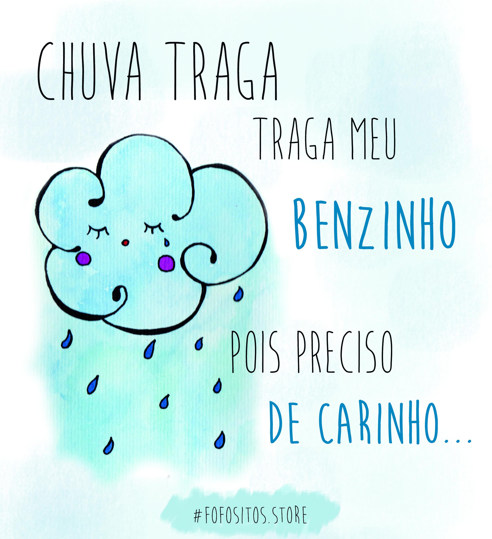 Ritmos do pingo que cair no chão, só me deixa relembrar... ! *_*  https://www.facebook.com/fofosito/  #fofo #chuva #nuvem #benzinho #mimo #ilustração #aquarela #fofositos
