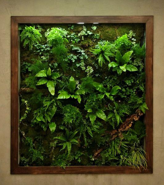 5 qm gr ne wand mit waldpflanzen und moos gr ne w nde. Black Bedroom Furniture Sets. Home Design Ideas