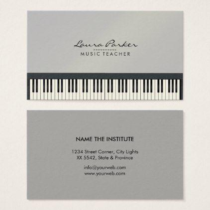 Music Teacher Piano Keyboard Musician Pianist Business Card Zazzle Com Music Business Cards Business Card Design Business Cards