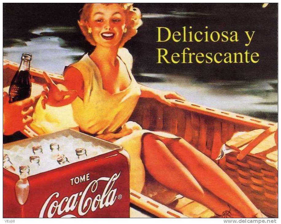 Coca cola deliciosa y refrescante coca cola vintage - Carteles publicitarios originales ...