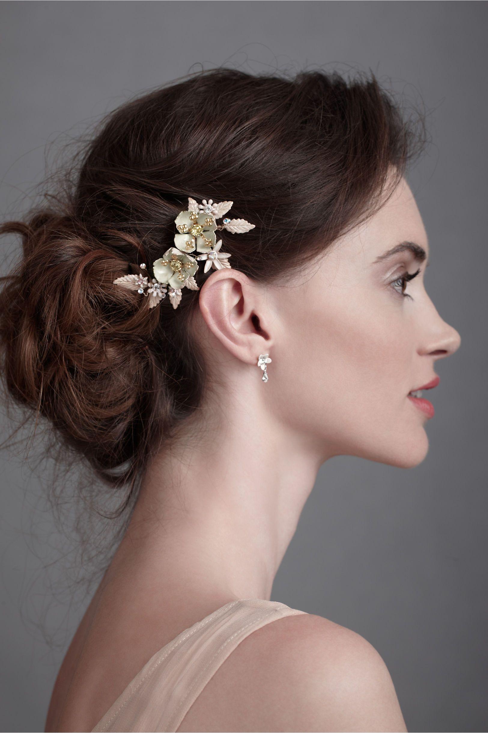 Wild Rose Comb   Wedding hairstyles thin hair, Wedding ...