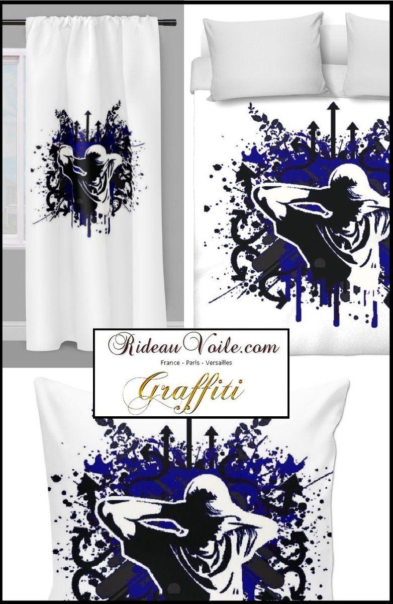 tissu coton epais graffiti mondial